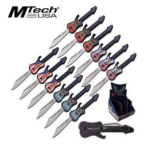 Mini Guitar Folding Knife Set | Retail Pop Display 12 Pieces
