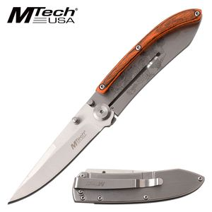 Folding Knife | Mtech Wood Slim Minimal Chinese Dragon Anime Pocket MT-1151PDR