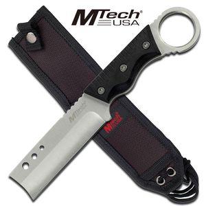 Black Chisel Tip Razor Style Fixed Blade Knife Finger Ring G10 Handle