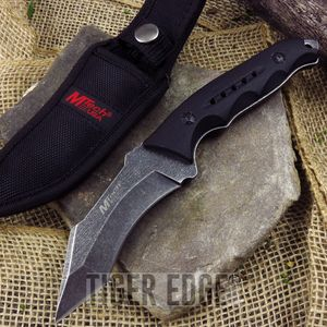 Mtech Fixed-Blade Full Tang Curved Tanto Tactical Fighting Knife W/ Sheath