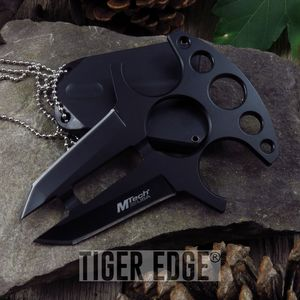 Fixed Blade Knife Mtech Black Fixed Blade Push Dagger Defense Combat Mt-20-49Bk