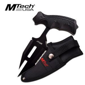 Mtech 'T'-Handle Black Rubber Grip Tactical Push Dagger