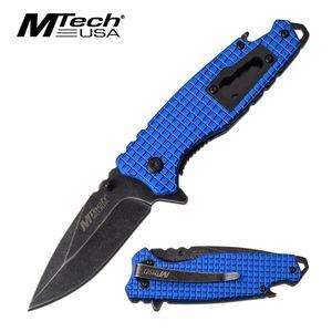 Spring-Assisted Folding Knife | Mtech Blue Multi-Tool Tactical Edc Bottle Opener