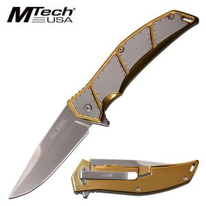 Spring-Assist Folding Knife Mtech All Steel 3.75