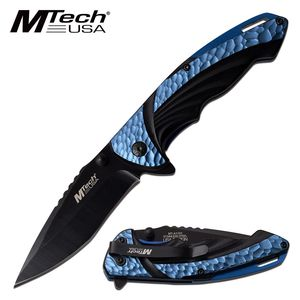 Spring-Assist Folding Knife | Mtech Tactical EDC Black 3.5