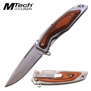 Spring-Assist Folding Knife | Mtech Satin Silver 3.75