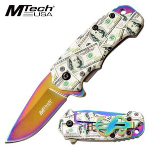 Spring-Assist Folding Knife | Mtech EDC Cash Money Rainbow 2