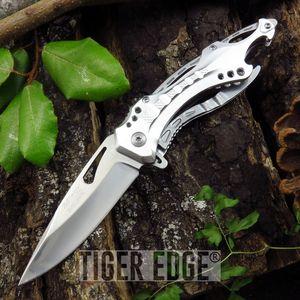 Spring-Assist Folding Pocket Knife Mtech Silver Blade Survival Tactical Edc
