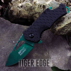 SPRING-ASSIST FOLDING POCKET KNIFE Mtech Green Blade Black Tactical Bottle Open