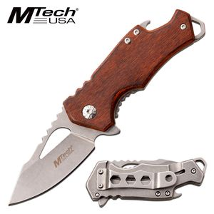 Spring-Assist Folding Knife | Mtech Mini Wood 2.25