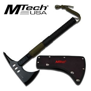 Mtech Tomahawk Throwing Axe with Survival Kit in Handle Black Hatchet