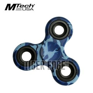 Fidget Spinner | Low-Cost Blue Navy Camo Stainless Steel Bearing Mt-Fsp003Bca