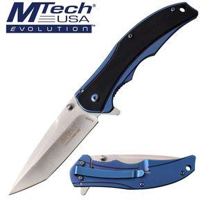 Manual Folding Knife Mtech EVOLUTION Tanto Blade Ball Bearing Pivot Tactical EDC
