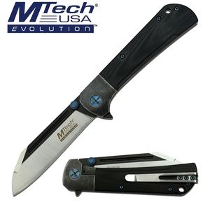 Manual Folding Knife Mtech EVOLUTION Wharncliffe Ball Bearing Pivot Tactical EDC