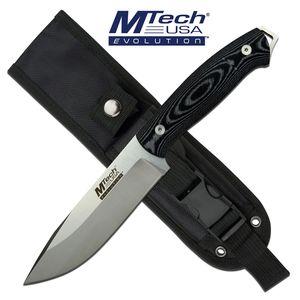 Tactical Knife Mtech EVOLUTION Full Tang Black Micarta Tactical Combat + Sheath