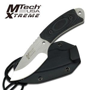 Fixed-Blade Tactical Neck Knife Mtech Heavy Duty Full Tang Hunter Blade Micarta