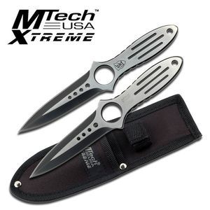 Mtech Xtreme Heavy Weight 2-Piece 5mm Thick Throwing Knife Set w/ Sheath