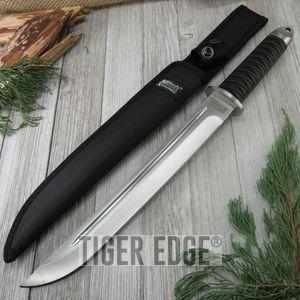 Mtech Black Japanese Samurai Tanto Warrior Tactical Dagger W/ Sheath