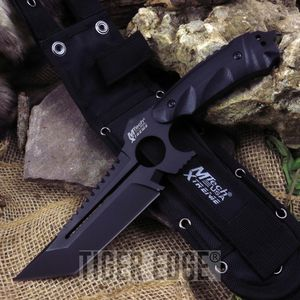Fixed-Blade Tactical Knife | Mtech Black Tanto Combat Blade 11.3