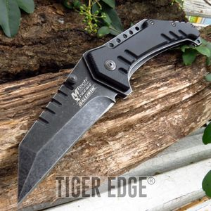 Mtech Heavy Black Sheep'S Foot Blade Spring Assisted Tactical Folding Knife