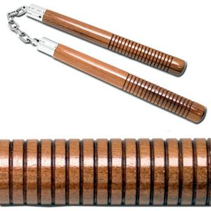 Nunchuck Set | Brown Wood 12