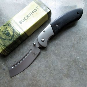Spring-Assist Folding Pocket Knife Buckshot Silver Razor 3.5