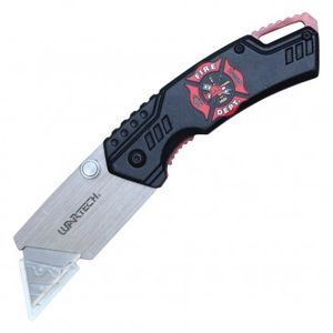 Folding Box Cutter Utility Knife | Interchangeable Blade Fire Fighter PBWT1FF