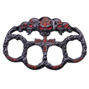 Brass Knuckle | Skull Red Dark Silver Paperweight Goth Punk Biker Duster