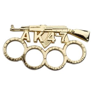 Brass Knuckle | Gold Ak-47 Rifle Paperweight Ak47 Gun Biker Duster