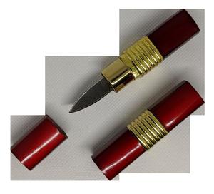 Classic Women's Lipstick Knife Hidden Blade Girl's Makeup Novelty - Red