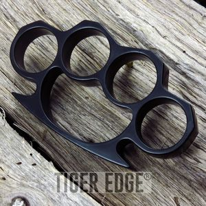 Black Color Brass Knuckles Four Finger Belt Buckle Paperweight One Size