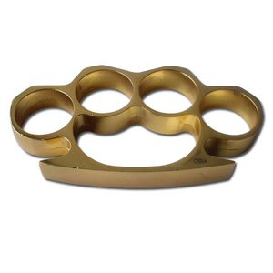 Gold Color Brass Knuckles Four Finger Belt Buckle Paperweight One Size