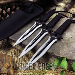 THROWING KNIFE SET Perfect Point Black 3-Piece Ninja Tactical Combat PP-099-3BK