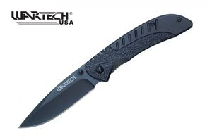 Spring-Assist Folding Knife Wartech Black Blade Tactical 8