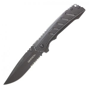 Spring-Assisted Folding Knife | Wartech Black Gray Tactical Edc 3.5