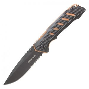 Spring-Assisted Folding Knife | Wartech Black Orange Tactical EDC 3.5