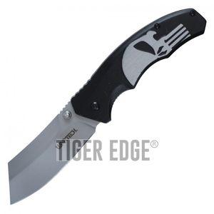 Spring-Assist Folding Pocket Knife Wartech Black Skull Gray Blade Tactical Razor