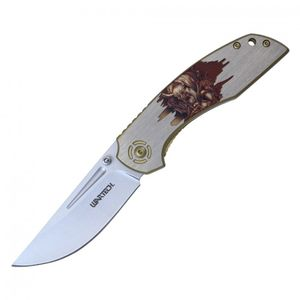 Spring-Assist Folding Pocket Knife Wartech 3.5