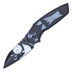 Spring-Assist Folding Knife | Halloween Howling Wolf 3.25