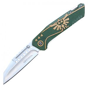 Spring-Assist Folding Knife | Legend of Zelda Link Master Green Game PWT319GN