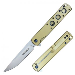 Spring-Assist Folding Knife | Wartech Slim Stainless Steel 3.75