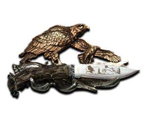 Hunting Knife | Soaring Bald Eagle Display - Stainless Steel Blade