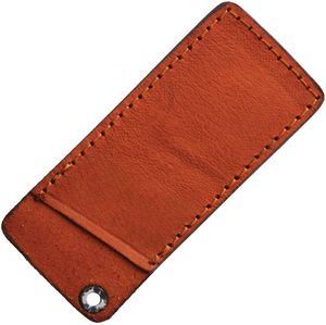 Folding Knife Sheath | Rough Ryder Brown Leather Slip Pouch - Fits 4
