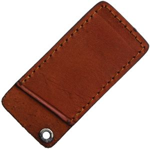Folding Knife Sheath | Rough Ryder Brown Leather Slip Pouch - Fits 3