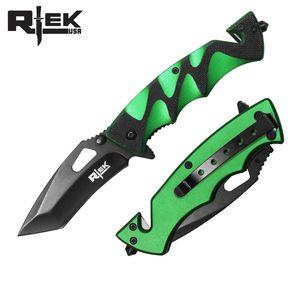 Spring-Assist Folding Knife | Black Tanto 3.5