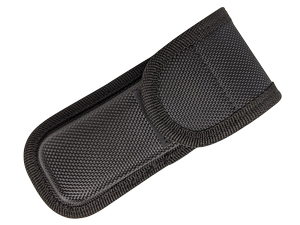 Folding Knife Sheath | Black Nylon Tactical Belt Pouch - For Folders up to 4.5