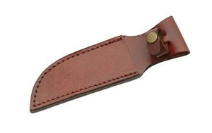 Fixed-Blade Knife Belt Sheath | Brown Leather 8