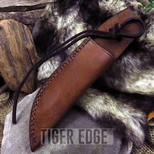 Fixed-Blade Knife Belt Sheath | Brown Leather 10