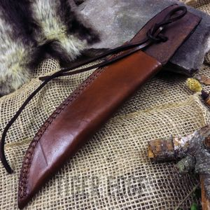 Fixed-Blade Knife Belt Sheath | Brown Leather 12