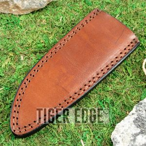 Fixed-Blade Knife Belt Sheath Brown Leather 6.75